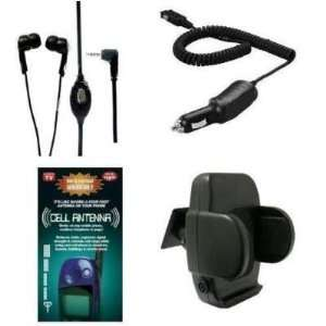 CAR CHARGER + GENERATION X ANTENNA BOOSTER + CAR VENT MOUNT HOLSTER