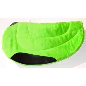 NEW LIME GREEN FLEECE Round Cut Barrel Saddle Pad