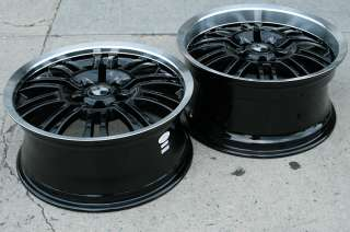 RVM M3D 18 BLACK RIMS WHEELS BMW 328 330 STAGGERED