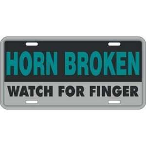 Horn Broken Watch For Finger License Plate Tag Sports