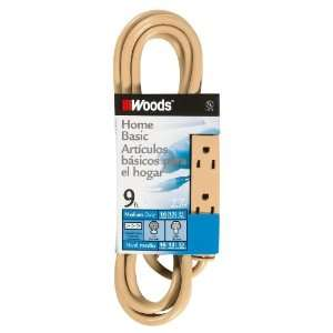 Woods 2978 9 Foot SJTW 3 Outlet Extension Cord, Beige
