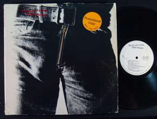 ROLLING STONES Sticky Fingers STEREO WHITE LABEL PROMO