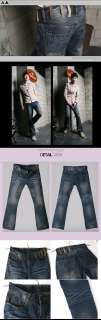 ST141B Mens Slim Fit Boot Cut Jeans Denims 28~34Pants