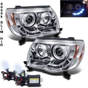+ 05 11 Toyota Tacoma Halo LED Projector Headlights Lamp Automotive