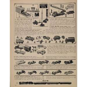 1962 Ad Dinky Toy Car Fire Truck Missile Launcher Jeep