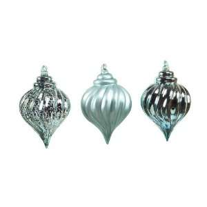 Club Pack of 12 Richest Winter Teal Glass Teardrop Christmas Ornaments