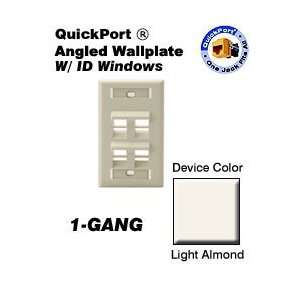 ID Window 4 Port Single Gang   Light Almond