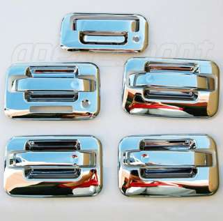 04 11 Ford F150 Chrome Door Handle+Tailgate Covers Trim