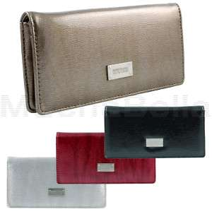 KENNETH COLE REACTION WOMENS SLIM CLUTCH WALLET PATENT 077979029998