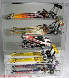 NHRA Diecast Display Case 5 Diecast 1/24 Dragsters
