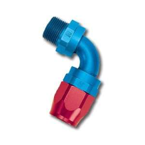 Edelbrock/Russell 612120 Red/Blue Anodized Aluminum 90 Degree Swivel