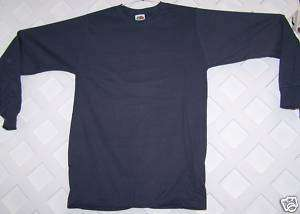 NEW 2 Fruit of the Loom Long Sleeve T Shirt Adult Med