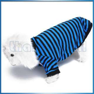 Striped T Shirt Clothes Apparel Pet Puppy Dog Sailor