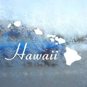 Hawaii Island Aloha White Decal Car Window Laptop White Sticker