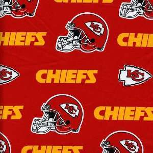 NFL Kansas City Chiefs Cotton Team Color Fabric  Per Yard