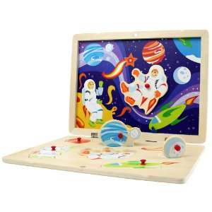 Space Adventure   Wooden Magnetic Puzzle Toys & Games