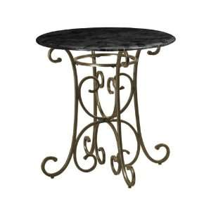 Chair height Pub Table Black Marble Tp Copper