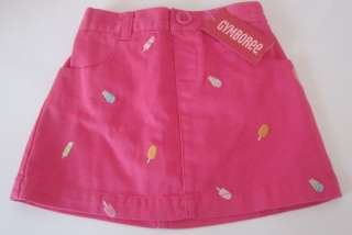 NWT GYMBOREE POPSICLE PARTY Embroidered Skirt 18 24