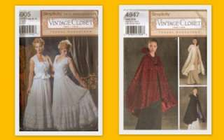 OOP Simplicity Sewing Pattern Misses Vintage Closet Costume Teresa
