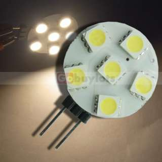 Warm White G4 6 5050 SMD LED Lamp Light Bulb 12V