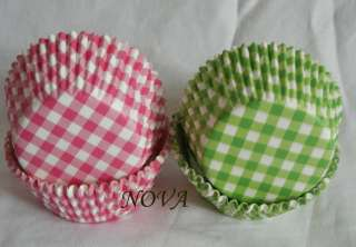 Plaid Cupcake Cake liners baking paper cup muffin case 50x33mm