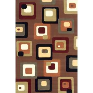 Elements Collection EL 10 Brown Contemporary Wool Area Rug 5.00 x 8.00