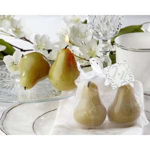 Pair Pear Candles Wedding Bridal Shower Favors