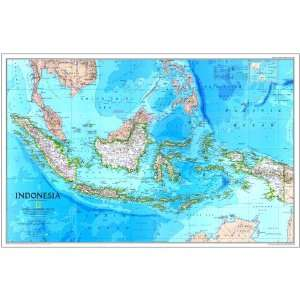 National Geographic 1996 Indonesia Map, Laminated Office