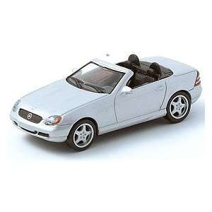 164 Scale Mercedes Benz SLK AMG Roadster Silver Diecast