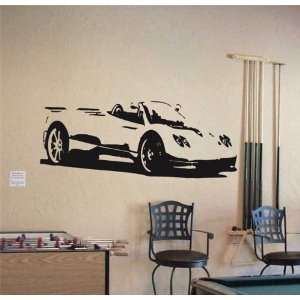 Wall MURAL Vinyl Sticker Car PAGANI ZONDA SPORT 009