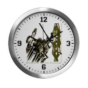 Wall Clock Army US Military Defenders Of Our Freedom