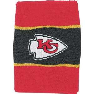 Kansas City Chiefs NFL Striped Wristband 2 Pack Sports