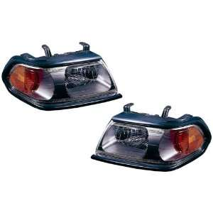 Mitsubishi Montero Sport Replacement Headlight Assembly (Black Flat