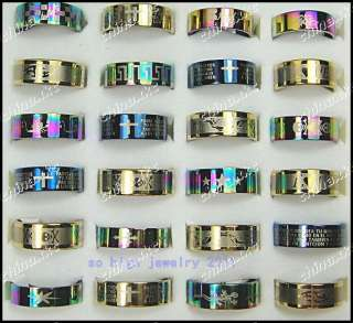 jewelry lot 50pcs Mix stainless steel Mans Fashion rings mix size
