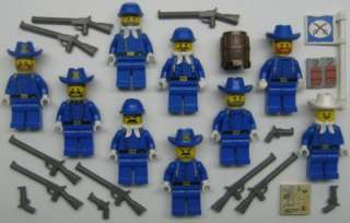 LEGO CALVARY MINIFIGS LOT cowboy western soldiers men civil war blue