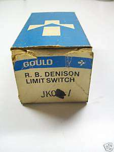 Gould Limit Switch head Model No. JK01 ~New Surplus~