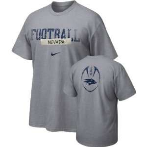 Nevada Wolf Pack Nike Team Issue Football Sideline Tee