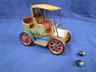 Vintage Tin Litho Modern Toys Lever Action Car Works