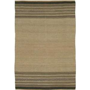5x76 Art Hand woven Rug, Brown, Beige, Gray, Carpet