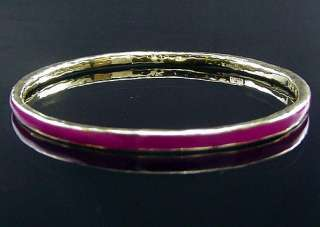 Stackable Estate Ippolita 18K Hot Pink Enamel Bracelet
