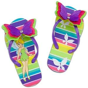 DISNEY TINKER BELL Toddler Flip Flops Beach Sandals NWT