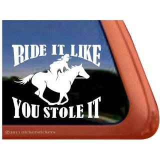 Bumper Sticker for the women horse rider  Can be used for Cars, Trucks