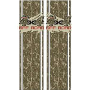 Rear Quarter Panel Graphics Kit with Mud Splash 4x4 Off Road Decal