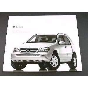 2003 03 Mercedes Benz M CLASS BROCHURE ML350 ML55 ML500