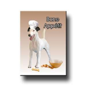 Smooth Fox Terrier Bone Appetit Chef Fridge Magnet