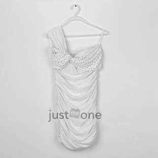 Sexy Women Prom Evening Cocktail Party Mini Dress white