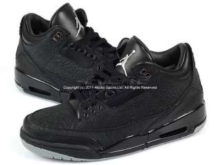 Nike Air Jordan Retro 3 III Flip Black/Metallic Silver Basketball
