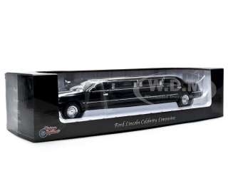 LINCOLN TOWN CAR LIMOUSINE 1/24 CELEBRITY LIMO BLACK