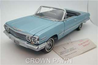 Impala Convertible 1/24 scale Diecast Model Car Franklin Mint