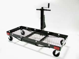 CARGO LUGGAGE CARRIER LIFT 2 RECEIVER WITH WHEELS & TRAILER JACK